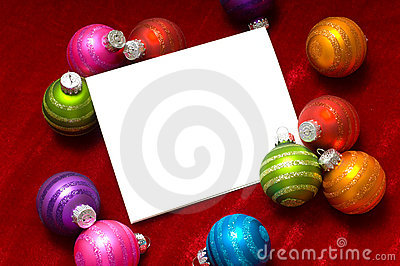 Christmas ball Note-Card