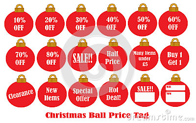 Christmas Ball Price Tag