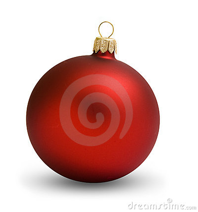 Free Christmas Ball Red Royalty Free Stock Photography - 11094427