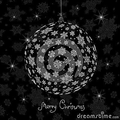 Christmas ball silhouette.