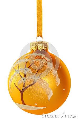 Christmas ball Snow covered tree