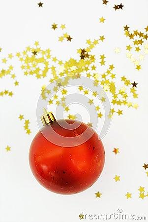 Christmas ball and stars