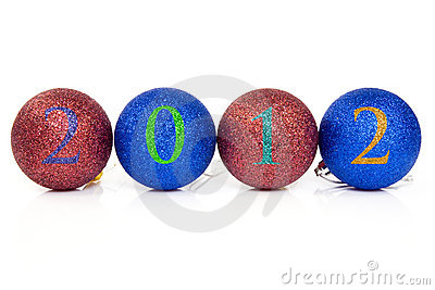 Christmas balls with 2012 date.