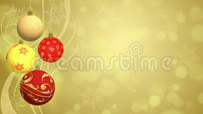Christmas Balls - Animated Background stock video footage