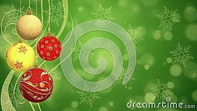 Christmas Balls - Animated Background stock footage