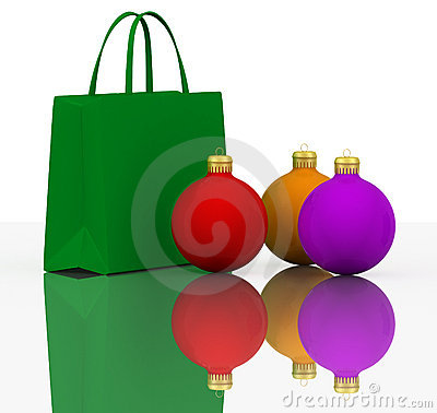 Christmas Balls and Colors shopping bags