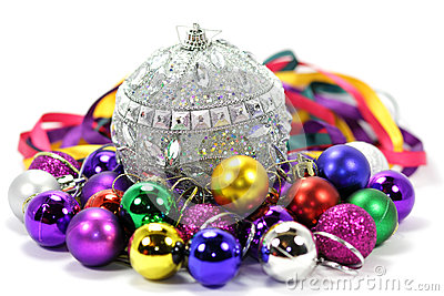 Christmas balls of different colors