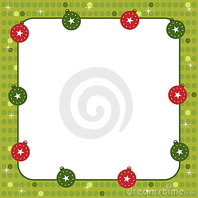 Free Christmas Balls Frame Stock Photo - 16264000