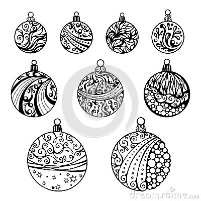 Christmas Ornament Clipart Free Black And White also Free Christmas Stencils together with Lovely Christmas Ball 34951709 furthermore Christmas together with Royalty Free Stock Photography Christmas Balls Isolated White Background Nine Various Round Shapes Hand Drawn Circles Ornament Image34210247. on xmas tree decorations