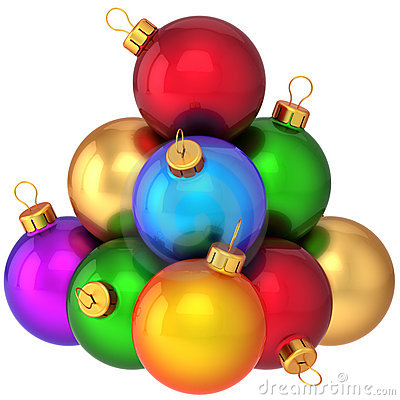 Christmas balls multicolored (Hi-Res)