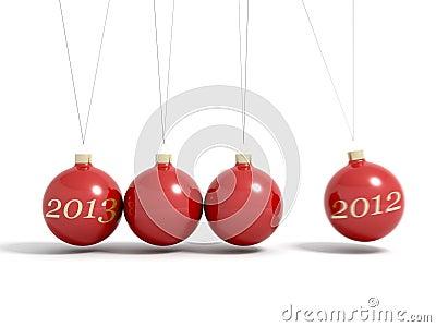 Christmas balls new year s eve pendulum 2013