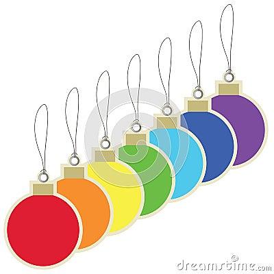 Christmas balls price tags