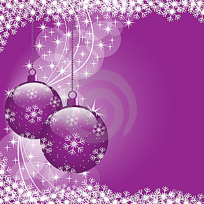 Christmas balls purple