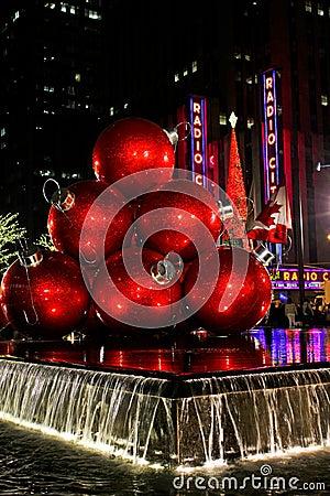 Christmas Balls and Radio City Music Hall