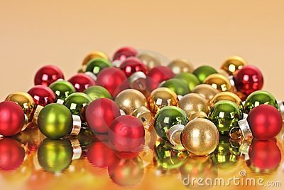 Christmas balls reflecting