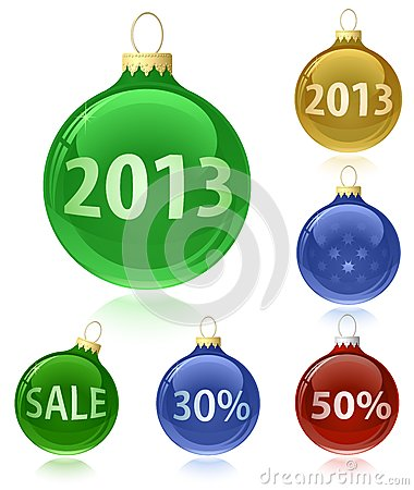Christmas balls with sale tags - 2013