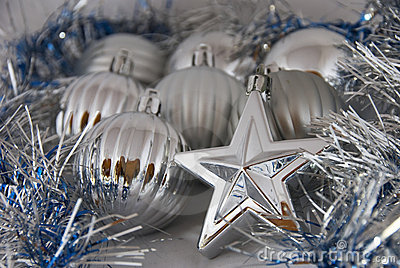 Christmas balls and stars