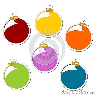 Christmas balls stickers
