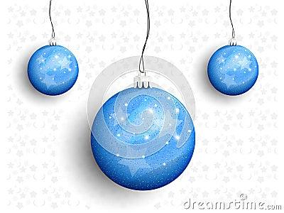 Christmas balls on a string