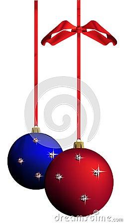 Christmas balls - vector