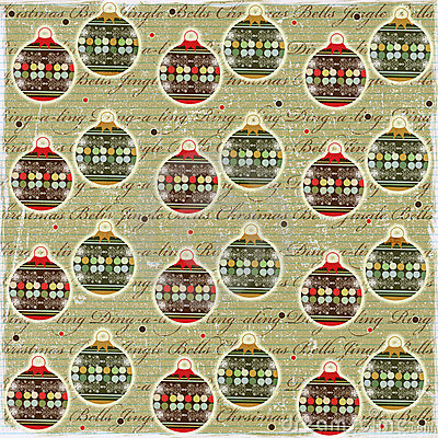 Christmas Balls Vintage Style Paper