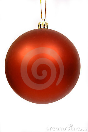 Christmas balls on a white bac