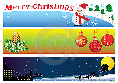 Christmas Banner For 3 Period Of Time_eps