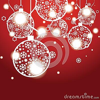 Christmas banner with Christmas balls