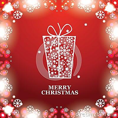 Christmas banner with Christmas gift