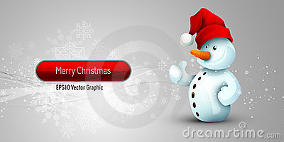 Christmas Banner with Positive Attitude Snowman