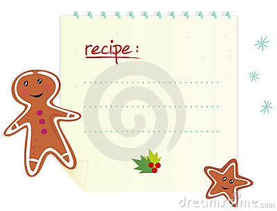 Christmas banner / recipe with blank space