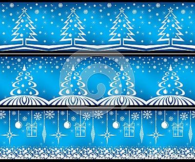 Christmas banner set.
