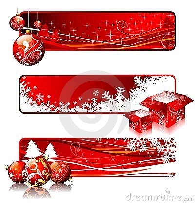 Free Christmas Banners. Stock Images - 10961264