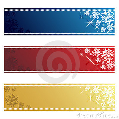 Free Christmas Banners Royalty Free Stock Image - 16233886