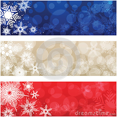 Free Christmas Banners Royalty Free Stock Photos - 27686938