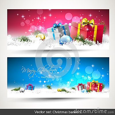 Free Christmas Banners Stock Images - 43310384