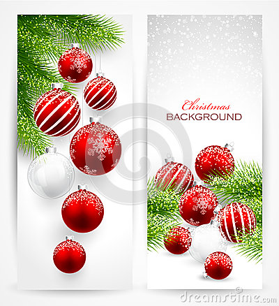 Free Christmas Banners Royalty Free Stock Photo - 45094945