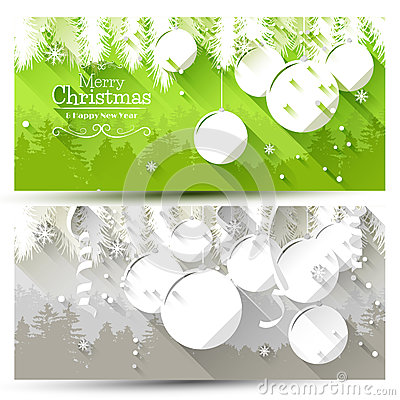 Free Christmas Banners Royalty Free Stock Photo - 45166275