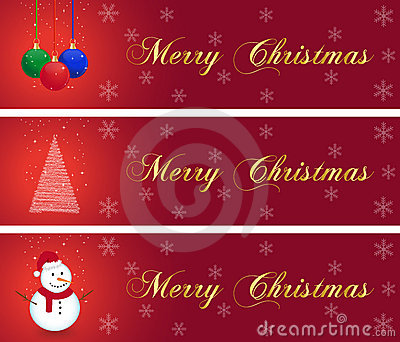 Christmas banners collection