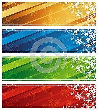 christmas banners, vector