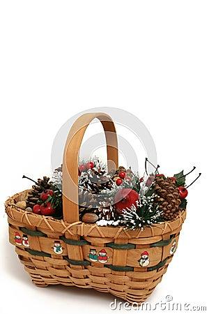 Free Christmas Basket 1 Stock Photos - 295273