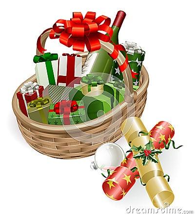 Free Christmas Basket Illustration Royalty Free Stock Image - 21617866