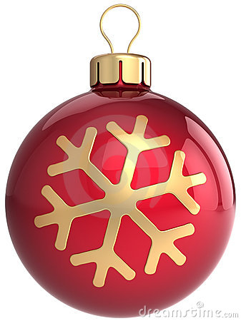 Christmas bauble ball classic