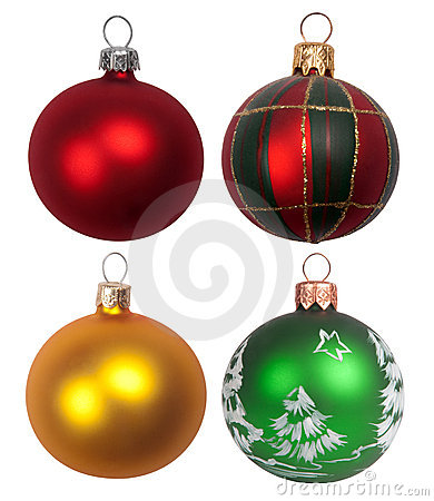 Free Christmas Baubles Royalty Free Stock Photos - 20736288