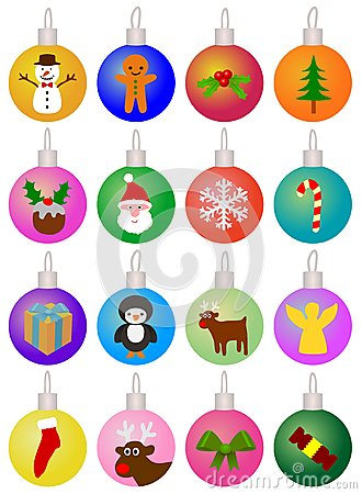 Free Christmas Baubles Royalty Free Stock Photo - 28200235