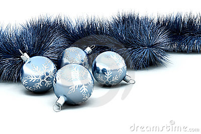Christmas baubles and tinsel