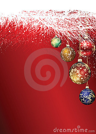 Christmas Baubles in Tree