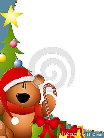 Free Christmas Bear Border 2 Royalty Free Stock Photography - 6989607