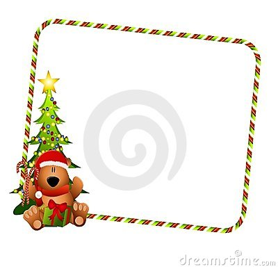 Christmas Bear Border