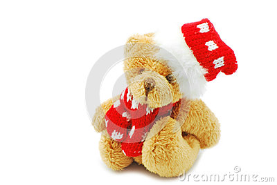 Christmas bear toy